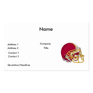 red and gold football helmet vector graphic pack of standard business cards