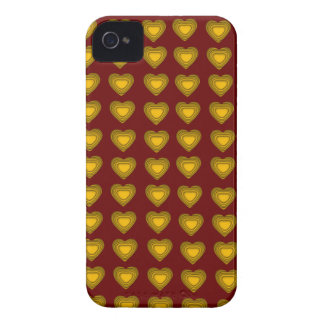 Red and gold Hearts BlackBerry Bold Case-Mate iPhone 4 Case-Mate Cases