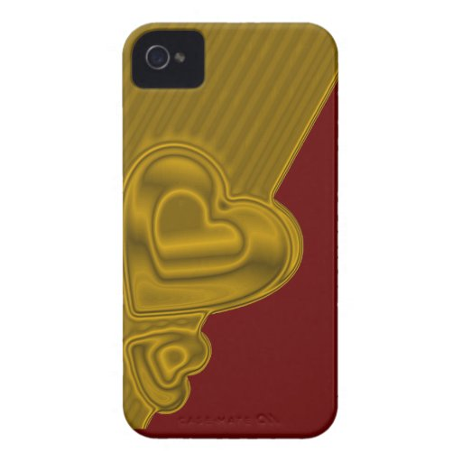 Red and gold Hearts BlackBerry Bold Case-Mate