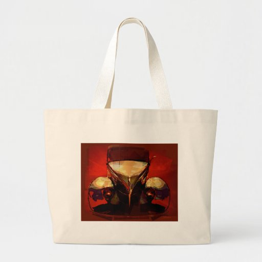 Red and Gold Hot Rod Canvas Bags