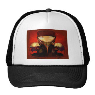 Red and Gold Hot Rod Trucker Hat