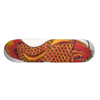 Red and Gold Koi 20 Cm Skateboard Deck