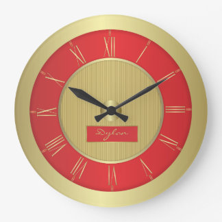 Red and gold large clock
