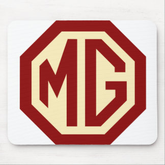 Red and Gold MG Logo Mousepad