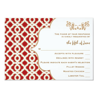 Red and Gold Moroccan Wedding Response Cards