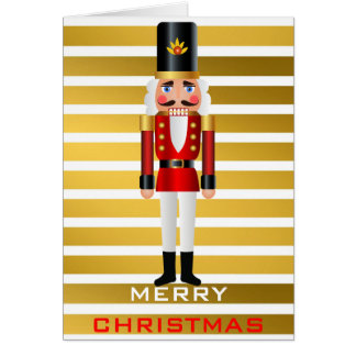 Red and Gold Nutcracker Card
