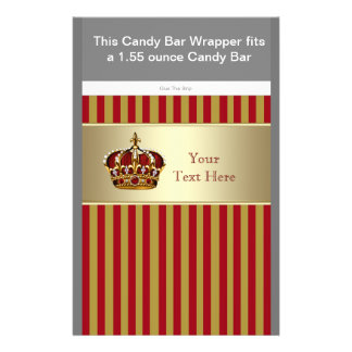 Red and Gold Prince Baby Shower Candy Bar Wrapper