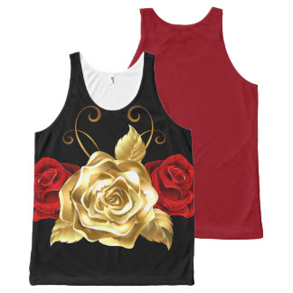Red and Gold Rose Tank