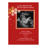 Red and Gold Ultrasound Holiday Card 13 Cm X 18 Cm Invitation Card