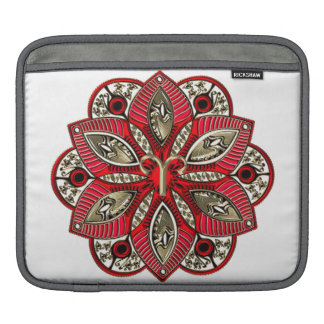Red and Gold Zodiac Sign Aries iPad Sleeve