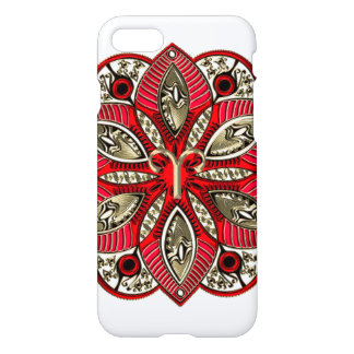 Red and Gold Zodiac Sign Aries iPhone 7 Case