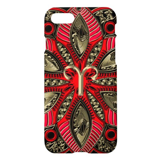 Red and Gold Zodiac Sign Aries iPhone 8/7 Case