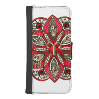 Red and Gold Zodiac Sign Aries iPhone SE/5/5s Wallet Case