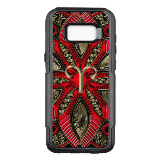 Red and Gold Zodiac Sign Aries OtterBox Commuter Samsung Galaxy S8+ Case