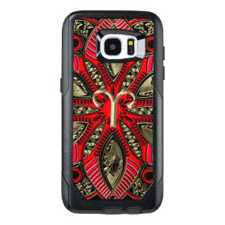 Red and Gold Zodiac Sign Aries OtterBox Samsung Galaxy S7 Edge Case