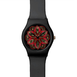 Red and Gold Zodiac Sign Aries Watch