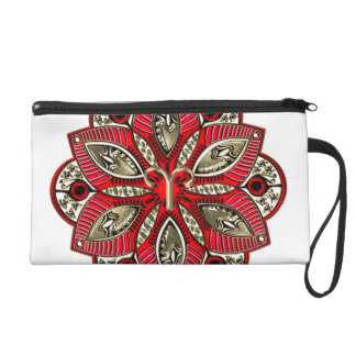 Red and Gold Zodiac Sign Aries Wristlet