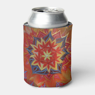 Red and Golden Mandala Custom Can Cooler