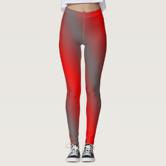 Red and Gray Leggings