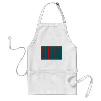 Red and Green Abstract Adult Apron