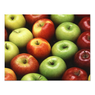 Red and Green Apples 11 Cm X 14 Cm Invitation Card