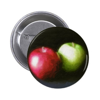 Red and Green Apples 1 Painterly Buttons