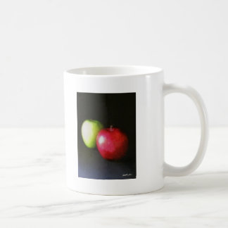 Red and Green Apples 2 Painterly Coffee Mug