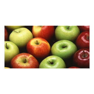 Red and Green Apples Photo Card Template