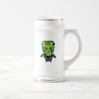 Red and green cartoon Halloween Frankenstein Beer Stein