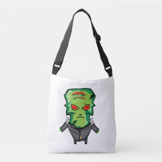 Red and green cartoon Halloween Frankenstein Crossbody Bag