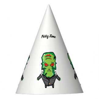 Red and green cartoon Halloween Frankenstein Party Hat