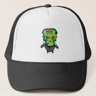 Red and green cartoon Halloween Frankenstein Trucker Hat