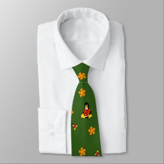 Red and Green Casual Tux Tie
