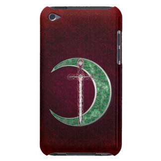 Red And Green Celtic Moon Barely There iPod Cover
