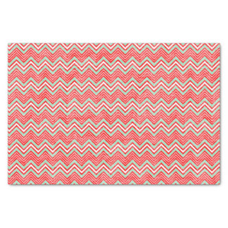 Red and Green Chevron Pattern Tissue Paper