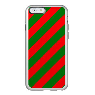 Red and Green Christmas Candycane Stripes Incipio Feather® Shine iPhone 6 Case