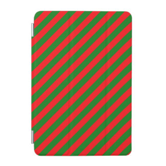 Red and Green Christmas Candycane Stripes iPad Mini Cover