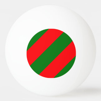 Red and Green Christmas Candycane Stripes Ping Pong Ball