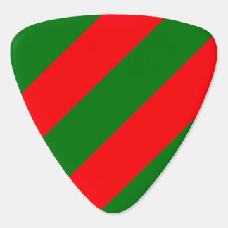 Red and Green Christmas Candycane Stripes Plectrum