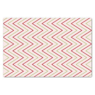 Red and Green Christmas Chevron Tissue Paper