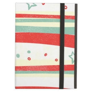 Red and Green Christmas Holiday Stripes Case For iPad Air