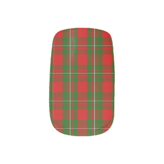 Red And Green Christmas Plaid Minx Nail Art