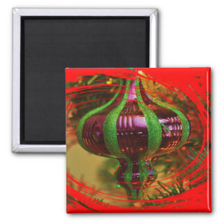 Red and Green Christmas Tree Bulb MAGNET
