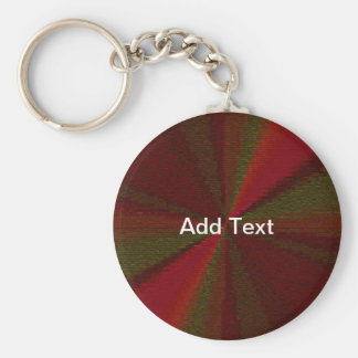 Red and Green Circular Patchwork Array Key Chain