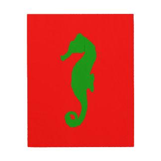 Red And Green Coastal Christmas Decor Seahorse