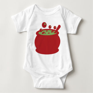 Red and Green Cooking Pot Baby Bodysuit