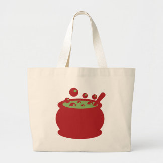 Red and Green Cooking Pot Large Tote Bag
