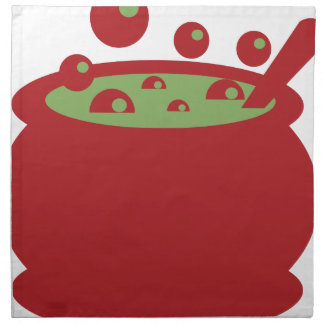 Red and Green Cooking Pot Napkin
