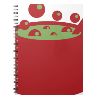Red and Green Cooking Pot Notebook