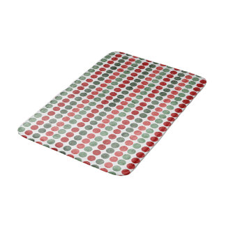 Red and Green Dots Bath Mat